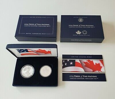 2019 Pride of Two Nations 19XB Limited Edition Two-Coin Set, IN HAND, Free Ship