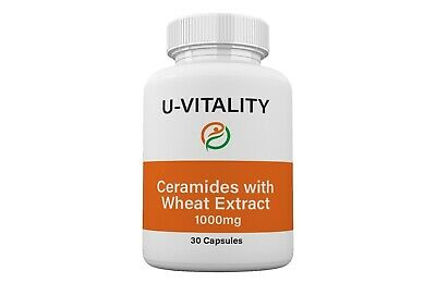 Anti Aging, Skin Care, Restoring Ceramides with Wheat Extract in Capsules 1000mg