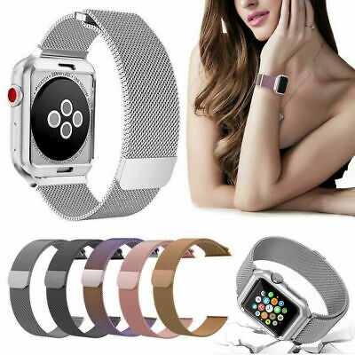 For iWatch Apple Watch Series 3/2/1 Watch Metal Band Strap Adjustable 38mm/42mm