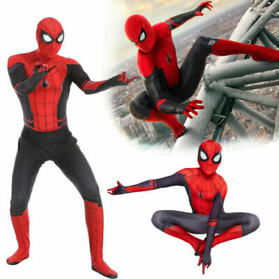 Adult Kids Spider-Man Far From Home Zentai Cosplay Costume Suit Great For Lover