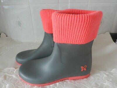 e573e3a8454 Ladies Butterfly Twists Wellington Boots Rain Boot Wellies Foldable  Packable New