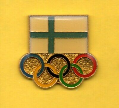 Pin's Lapel pin JEUX OLYMPIQUE Olympic games FLAG DRAPEAU ANNEAUX  FINLAND