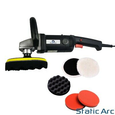 1200W Electric Polisher Car Buffer Waxing Sander Pad Disc Power Corded Uk Plug