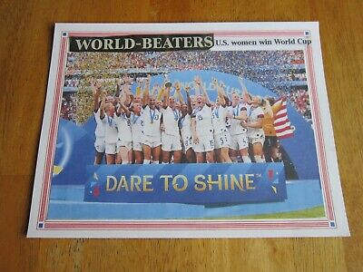 "Soccer Poster-USA womens 2019 world cup champions team-Plastic Laminated-8.5""x11"