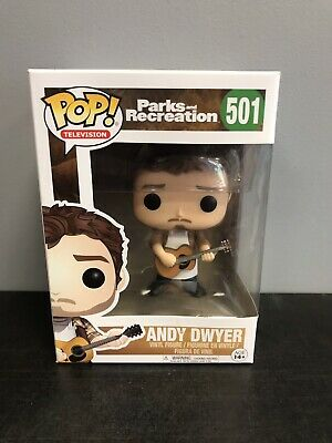 Funko Pop! Andy Dwyer Parks and Rec Retired Vaulted Chris Pratt