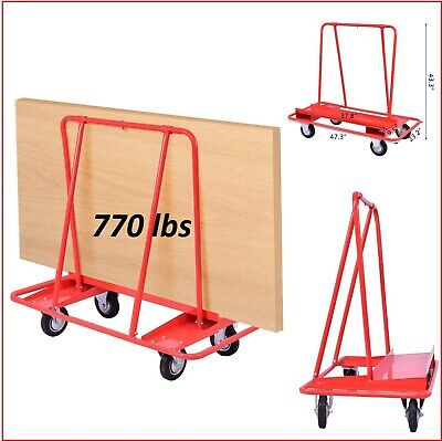 Drywall Cart Dolly Heavy Duty Panel Handling Truck Red 770 lbs Professional New