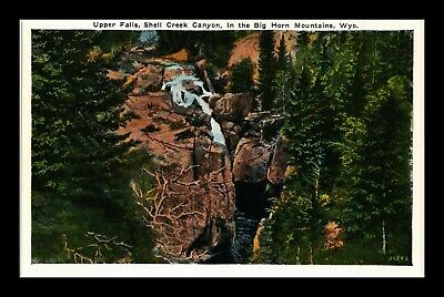 Dr Jim Stamps Us Upper Falls Shell Creek Canyon Big Horn Mountains Postcard