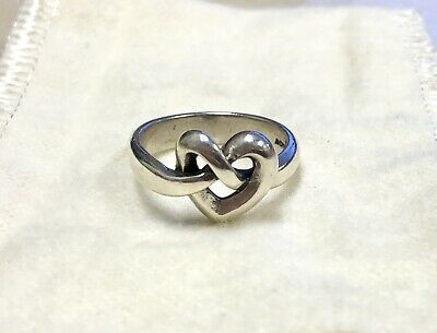 James Avery 925 Sterling Silver Open Heart Endless Loop Knot Size 5.5