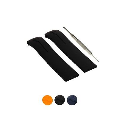 21mm Rubber Watch Band Strap Comp. T-Touch 2 T013420A T047420A T047220A + Tool