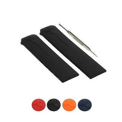 20mm Rubber Watch Band Strap Comp. Tissot T-Touch 2 II T047420, T013420 + Tool