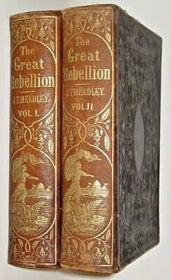 LEATHER Set;CIVIL WAR!United States Lincoln Grant(FIRST EDITION! 1864)RARE! GIFT