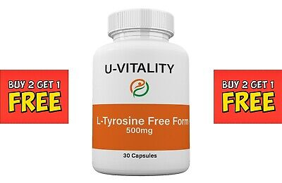 L-TYROSINE ALL SIZE Energy Chronic Fatigue Depression