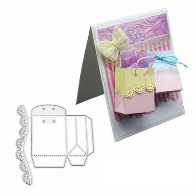 GC- 3D Gift Box Bag Metal Cutting Dies Scrapbook Emboss Paper Cards Album Craft