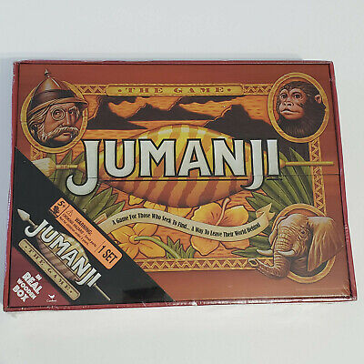Jumanji the Game--Real Wood Case board game-Cardinal-New, sealed-movie tie in