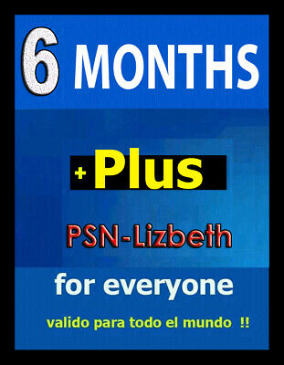6 MONTHS PS PLUS PSN Plus - 100% WORKS - (No Code)