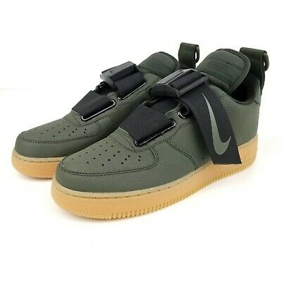 Nike Air Force 1 Utility Men's Casual Shoes AO1531 300 Sequoia Black Gum Brown