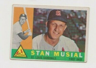1960 Topps  Stan Musial #250! Great Vintage Hall-Of-Famer Card, No Reserve!