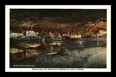Dr Jim Stamps Us Dream Lake Luray Caverns Virginia Postcard