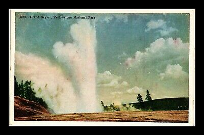 Dr Jim Stamps Us Grand Geyser Postcard Yellowstone National Park
