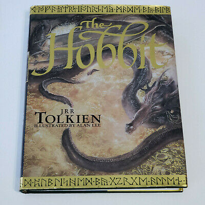 The HOBBIT-JRR Tolkien-Illustrated By Alan Lee-HC/DJ-1997-HTF