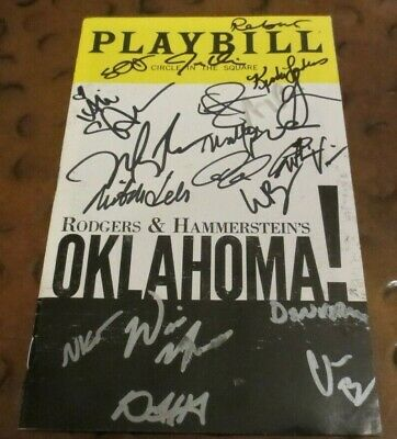 Oklahoma Broadway Play Playbill current cast signed autographed 2019