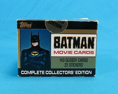 Vintage 1989 Topps Limited Edition Box of Batman Movie Cards New in Box Sealed