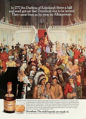1990 DRAMBUIE Would You Like To Be Known 4 Throwing a Legendary Party? PRINT AD