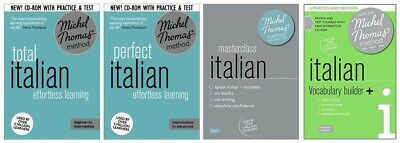 Michel Thomas Total Italian, Perfect Italian, Masterclass, & Vocabulary Builder+