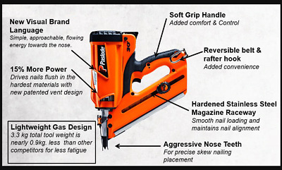 Paslode B20543P Powervent Cordless Lithium Impulse Framemaster Nail Gun (B46284)