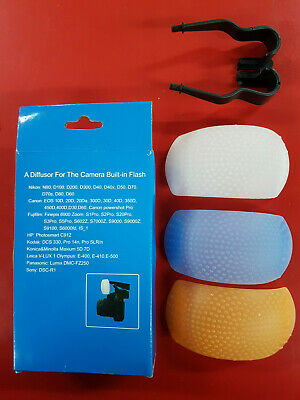 Pop-up Flash Diffusor - Fotar 3 colors - BNIB