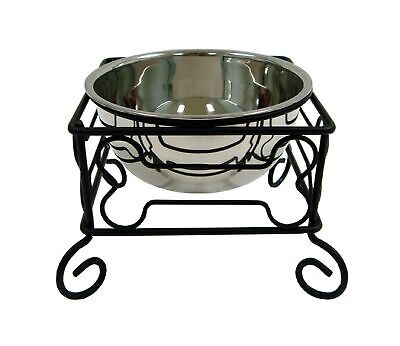 Single Raised Dog Bowls For Large Dogs With Metal Stand Food Water Feeder Dish