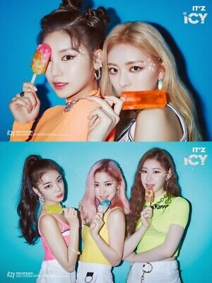 ITZY [IT'Z ICY] Album 2 Ver SET 2CD+2 Photo Book+4 Card+2 Pre-Order K-POP SEALED