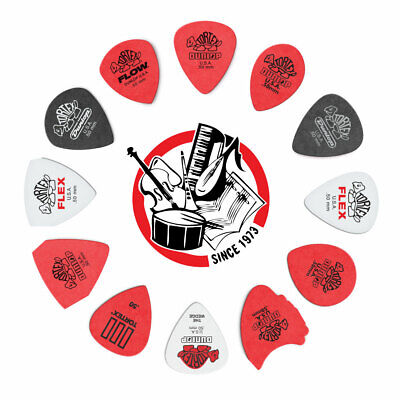 12 X Jim Dunlop Tortex 0.50mm Variety Guitar Picks *NEW* Standard Flex Wedge