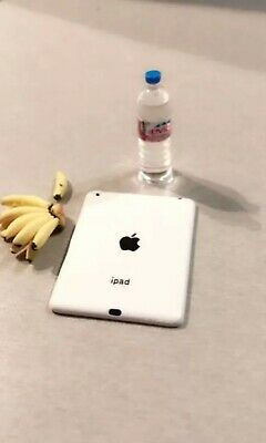 Miniature dolls house accessories Miniature Apple IPad Tablet White1:12th scale