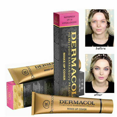 Dermacol High Cover Makeup Foundation Authentic Waterproof SPF-30 Hypoallergenic