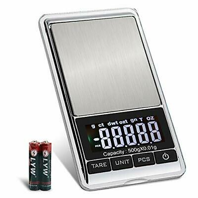 Jewelry Scale High Precision Digital Pocket Scale Gram 500g Mini Heavy Duty NEW