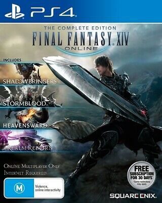 Final Fantasy XIV Online Complete Edition WIndows Sony PS4 Playstation 4 Game
