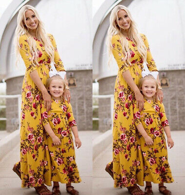 2019 Family Dress Mother and Daughter Matching Girls Outfits Clothes Dresses