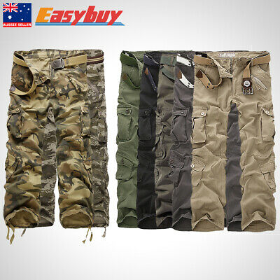 AU Combat Men Cotton Cargo Army Pants Military Camouflage Camo Trousers Outdoor