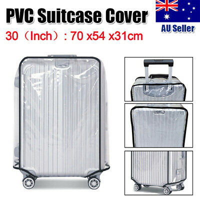 """30"""" Travel Transparent Luggage Protect Suitcase Bag Waterproof Dustproof Cover"""