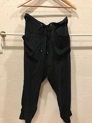 Beautiful black sass & bide 100% silk pants, Size 14.