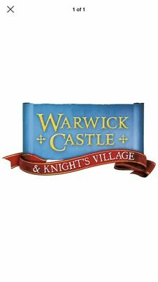 2 X WARWICK CASTLE Tickets for 04th Sep, 2019 (School Holidays)