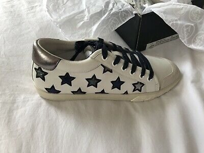 9d8a00df4231a ASH MAJESTIC SILVER Leather Star Motif Trainers Shoes BNIB UK 7 40