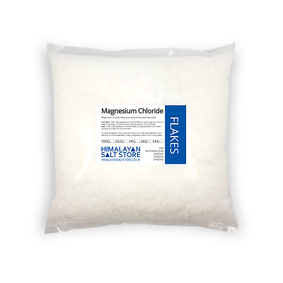MAGNESIUM CHLORIDE FLAKES | 100,250g,1,2,5,10,25KG | Pure Foot Bath Salt Soak