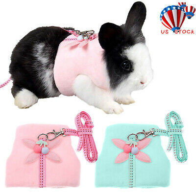 Pet Mesh Harness With Leash Mesh Small Animal Lead for Rabbit Bunny Accessory