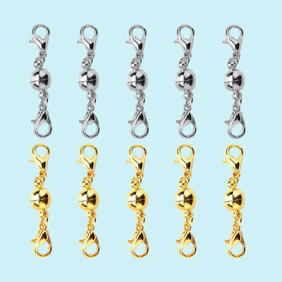 10pcs Magnetic Clasps Silver Lobster Clasps Jwelry Clasps Solid Necklace Clasps