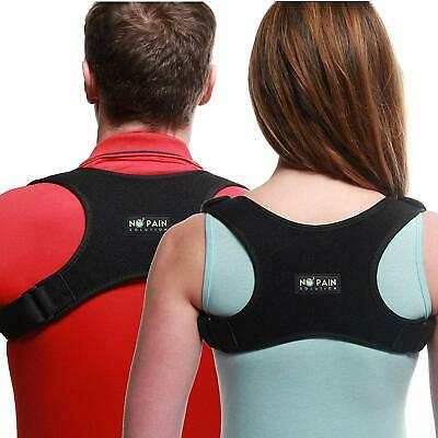 Posture Corrector Adjustable Upper Back Brace Support Shoulder Correction Belt