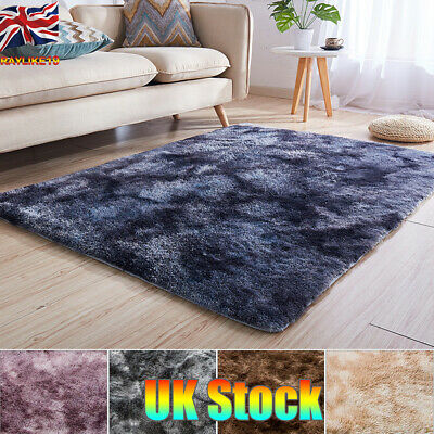 3CM Soft Fluffy Rugs Large  Shaggy Area Rug Living Rooms Bedroom Dining Room UK