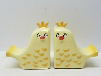 Vintage Holt Howard 1960 Yellow Birds Salt And Pepper Shakers MCM Modern RARE