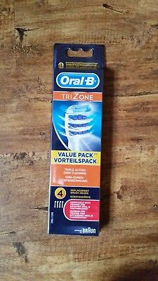 Genuine Oral B TRIZONE 4 Pack toothbrush Heads. UK seller.